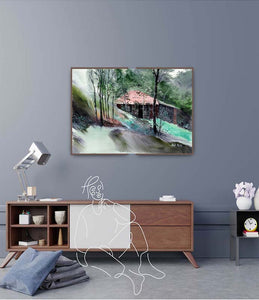 Beautiful Farm House Painting for Living Dining Bed Rooms With Interior- NeneArts