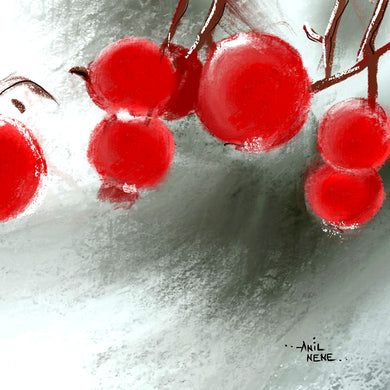 Artprint of Red Fruits Digital Painting - NeneArts