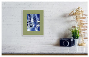 Blue Stream Digital Painting In Living Room-NeneArts
