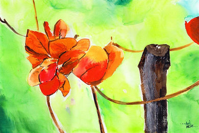 Bougainvillea Floral Painting For Sale-NeneArts.jpg