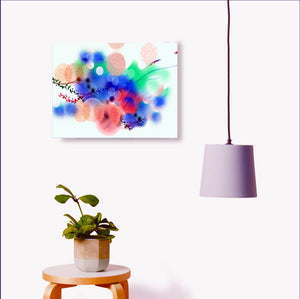 Digital Flowers Painting with light Interior-NeneArts