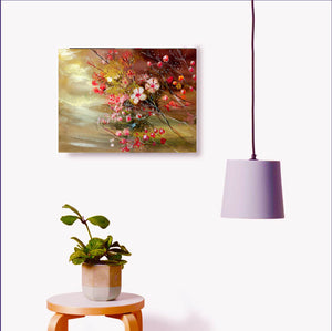 Flowers1 Watercolor Painting Art print For Sale Image With Furniture-NeneArts