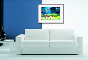 Garden Magic Art Print In Living Room-NeneArts