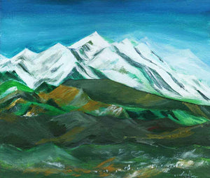 Himalaya Acrylic Painting For Sale-NeneArts