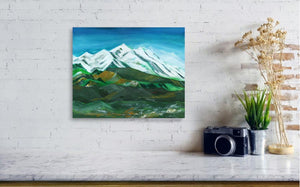 Himalaya Acrylic Painting For Sale in context image-NeneArts