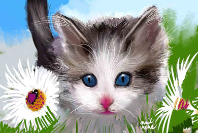 Kitten Digital Artwork For Sale - NeneArts.