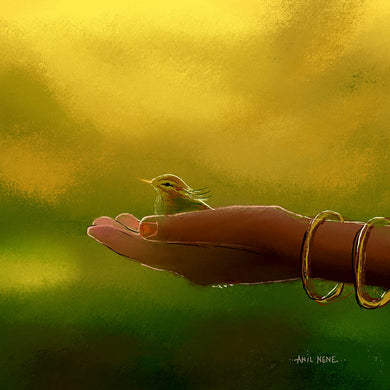 Little Cute Birdie Digital Painting ArtPrint - NeneArts