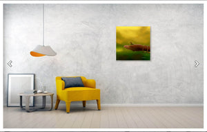Little Cute Birdie Digital PaintingA rtPrint with interior