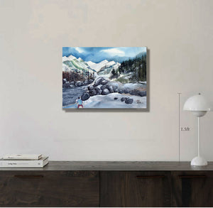 Manali 4 Himalaya Painting For Sale in Living Room-NeneArts