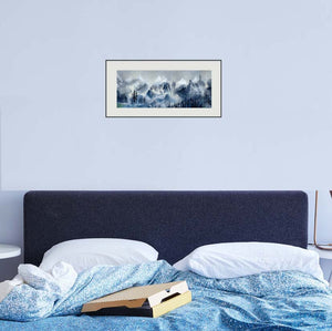 Manali 3 Himalaya Painting In Bed Room-NeneArts