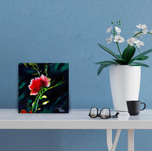 Load image into Gallery viewer, Red Flower in context image of Acrylic Painting For Sale-NeneArts.jpg