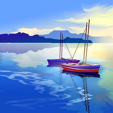 Two Boats Digital Painting Art Print NeneArts.jpg