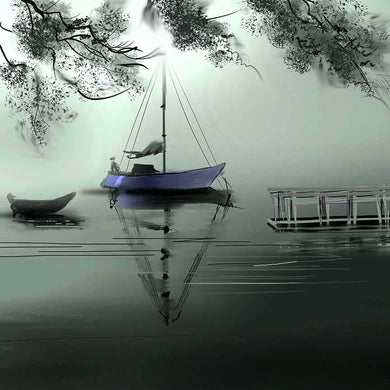 Waiting for the boat Digital Art Print For Sale-NeneArts.jpg