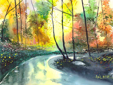 Welcome Spring Stunning Original Watercolor Painting NeneArts.jpg