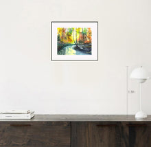 Load image into Gallery viewer, Welcome Spring Stunning Original Watercolor Painting Shown With Furniture NeneArts.jpg