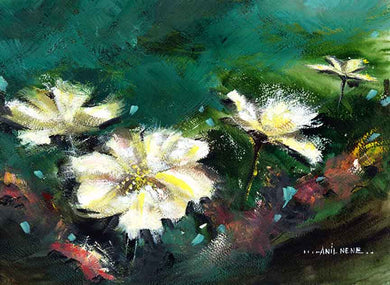 Wild Flowers Original Painting For Sale-NeneArts