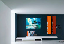 Load image into Gallery viewer, blue sky original watercolor painting in livingroom-NeneArts