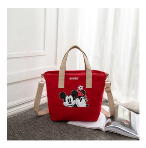 Disney Mickey Mouse Lady Canvas Crossbody Shoulder Bag