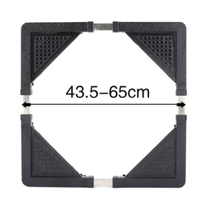 Adjustable base for washing machine and refrigerator