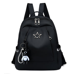 Pentagonal Oxford Double Shoulder Bags for Female Students