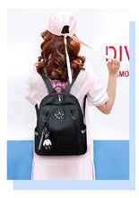 Load image into Gallery viewer, Pentagonal Oxford Double Shoulder Bags for Female Students