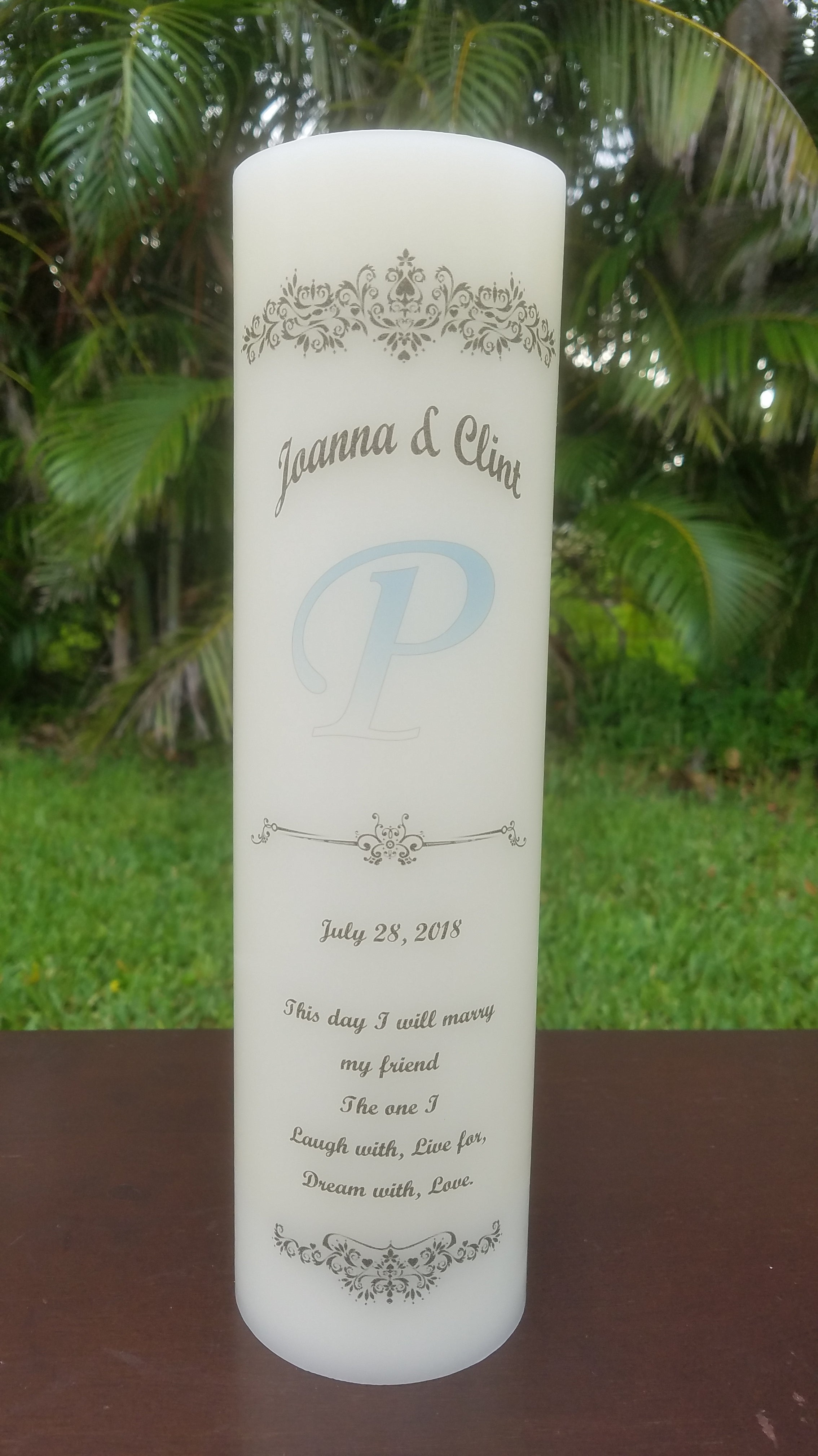 Personalized Unity Candle Personalized Candle Store