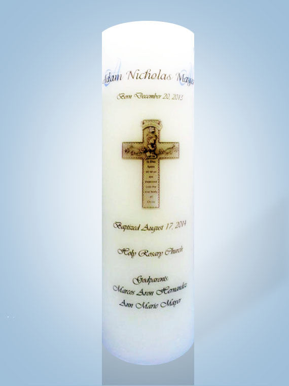 Baptism Candle Personalized Candle Store