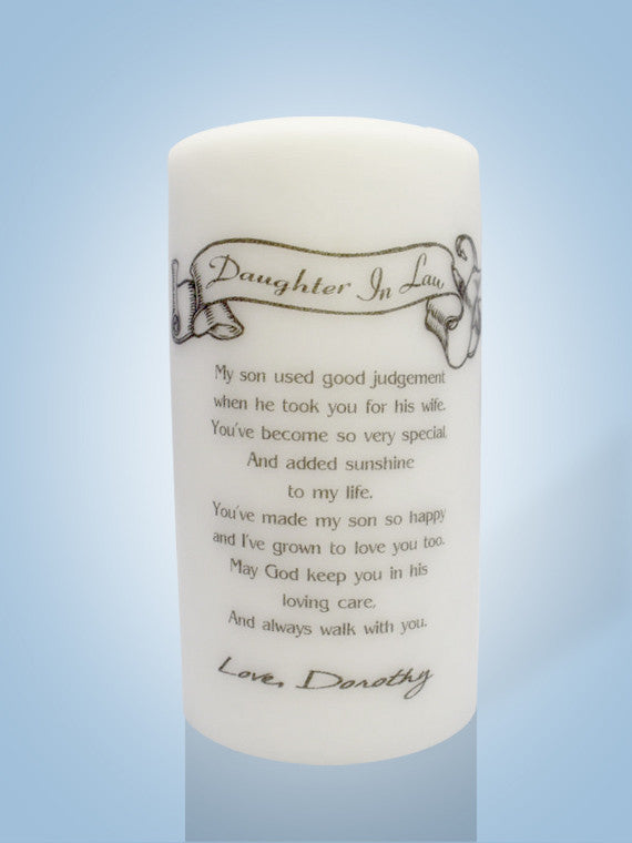 Daughter In Law Gift Candles