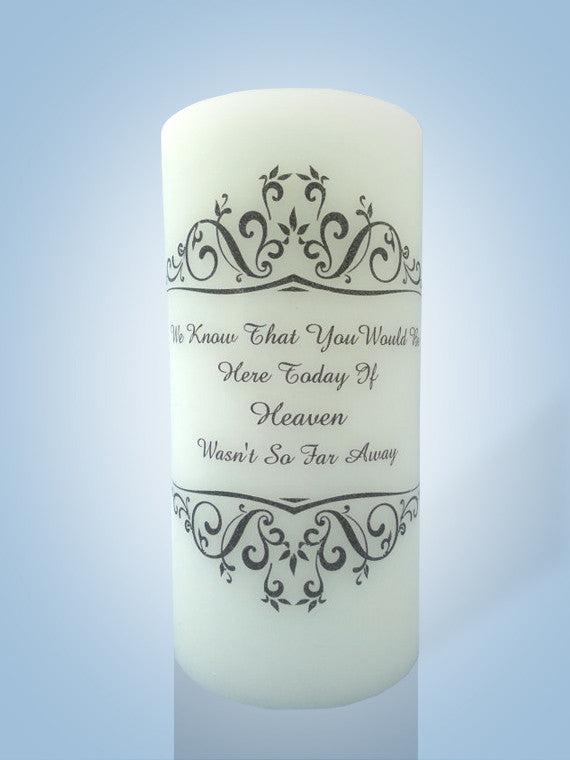 Wedding Memorial Candles | Personalized Candle Store