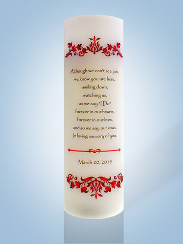 wedding ideas candles wedding memorial candles personalized candle 28080