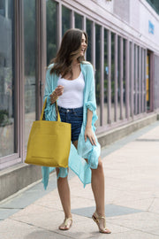 DARIA REVERSIBLE TOTE,YELLOW