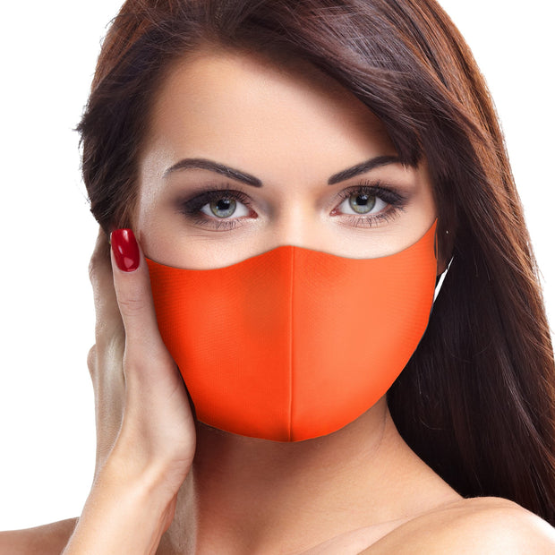 Solid Orange Face Mask