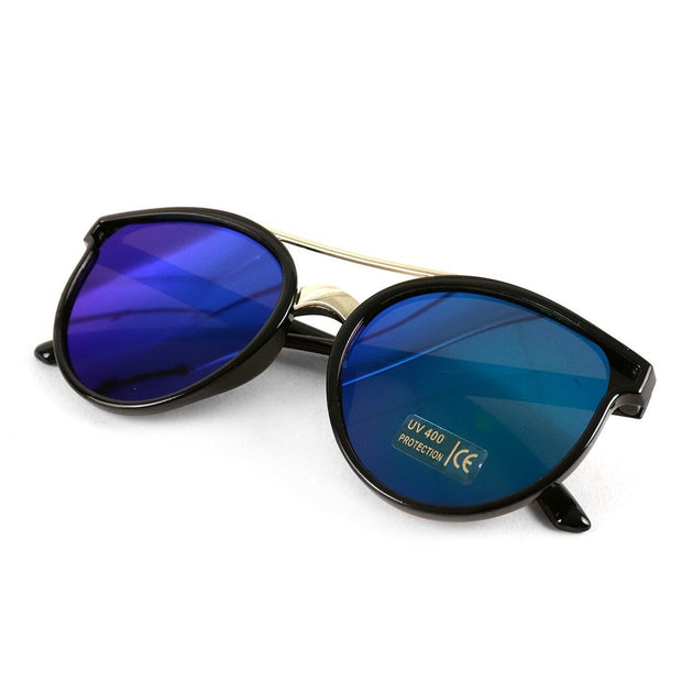 Round Mirrored Fashion Sunglasses