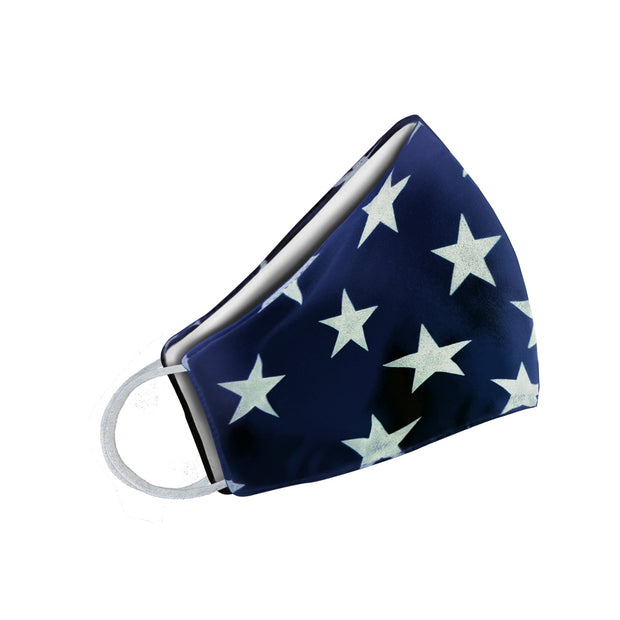 White Stars Face Mask