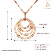 Infinity Necklace in 18K Rose Gold Plated with Swarovski Crystals