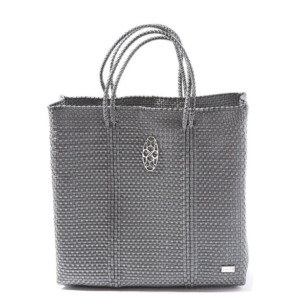 Medium Silver Tote Bag