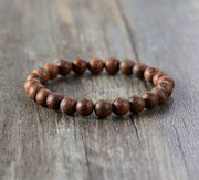 Mens' Bracelet 8MM Wood Beads Stretch Bracelet