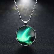 Glow in the Dark Necklace in 18K White Gold Plated