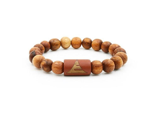 Solid - All Light Red Wood Mens' Bracelet