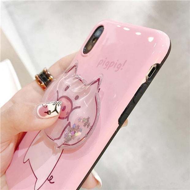 3D Squishy Piggy iPhone Case