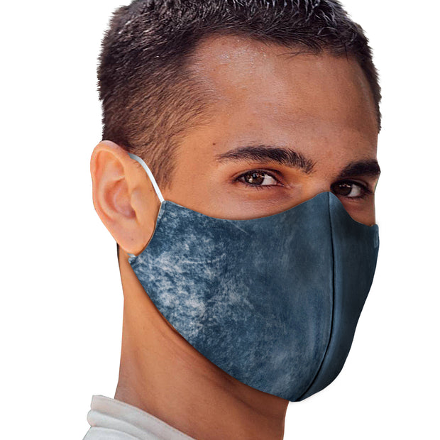 Blue Denim Tie Dye Face Mask