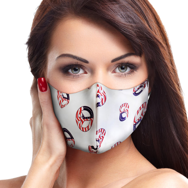 USA Peace Sign Circle Face Mask