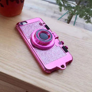 Glitter Camera Kickstand iPhone Case