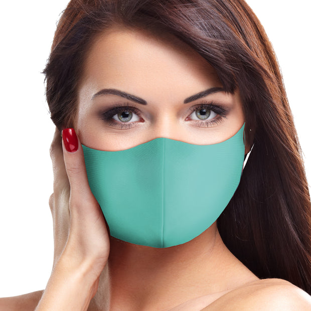 Solid Teal Face Mask