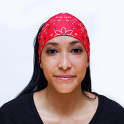 Red Bandana Button Headband