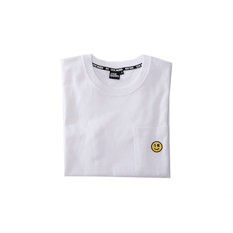 SMILE FACE WHITE T-SHIRT