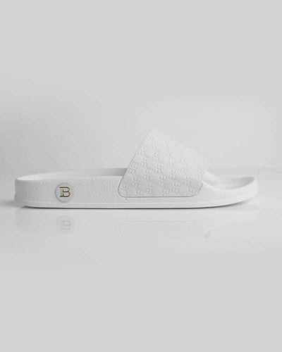 Balmain Monogram Slides White