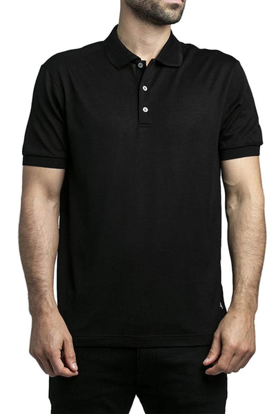 Ferragamo Cotton Polo Shirt Black