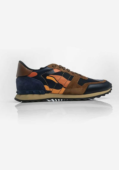 Valentino Chunky Camouflage Sneakers Multicolored