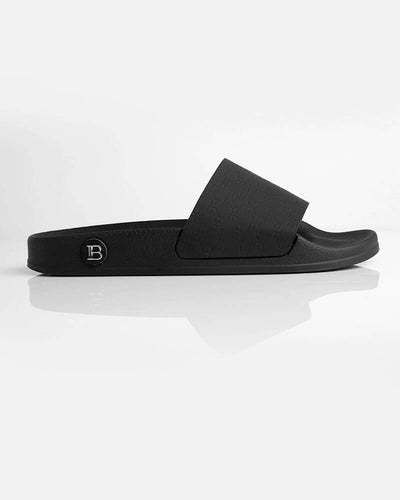 Balmain Monogram Slides Black